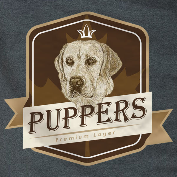 Puppers Premium Lager - Ladies Tee - Absurd Ink
