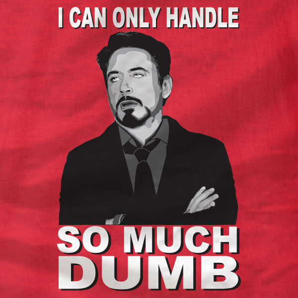 RDJ Rolling Eyes - So Much Dumb - Canvas Unisex T-Shirt - Absurd Ink