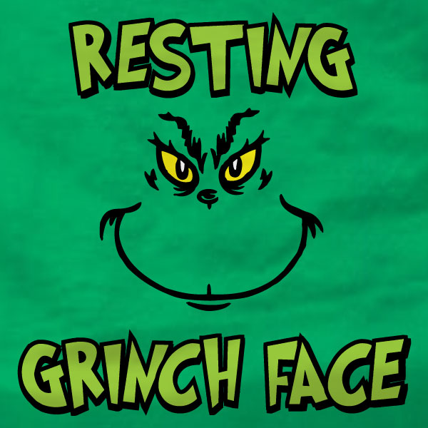 Resting Grinch Face - Sweatshirt - Absurd Ink