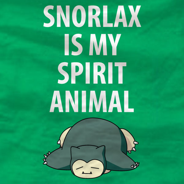 Snorlax T-Shirt - Snorlax Is My Spirit Animal - Absurd Ink