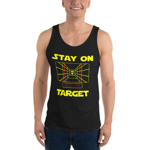 Disc golf Tank - Stay On Target - Absurd Ink