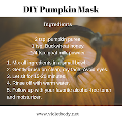 DIY Pumpkin Face Mask