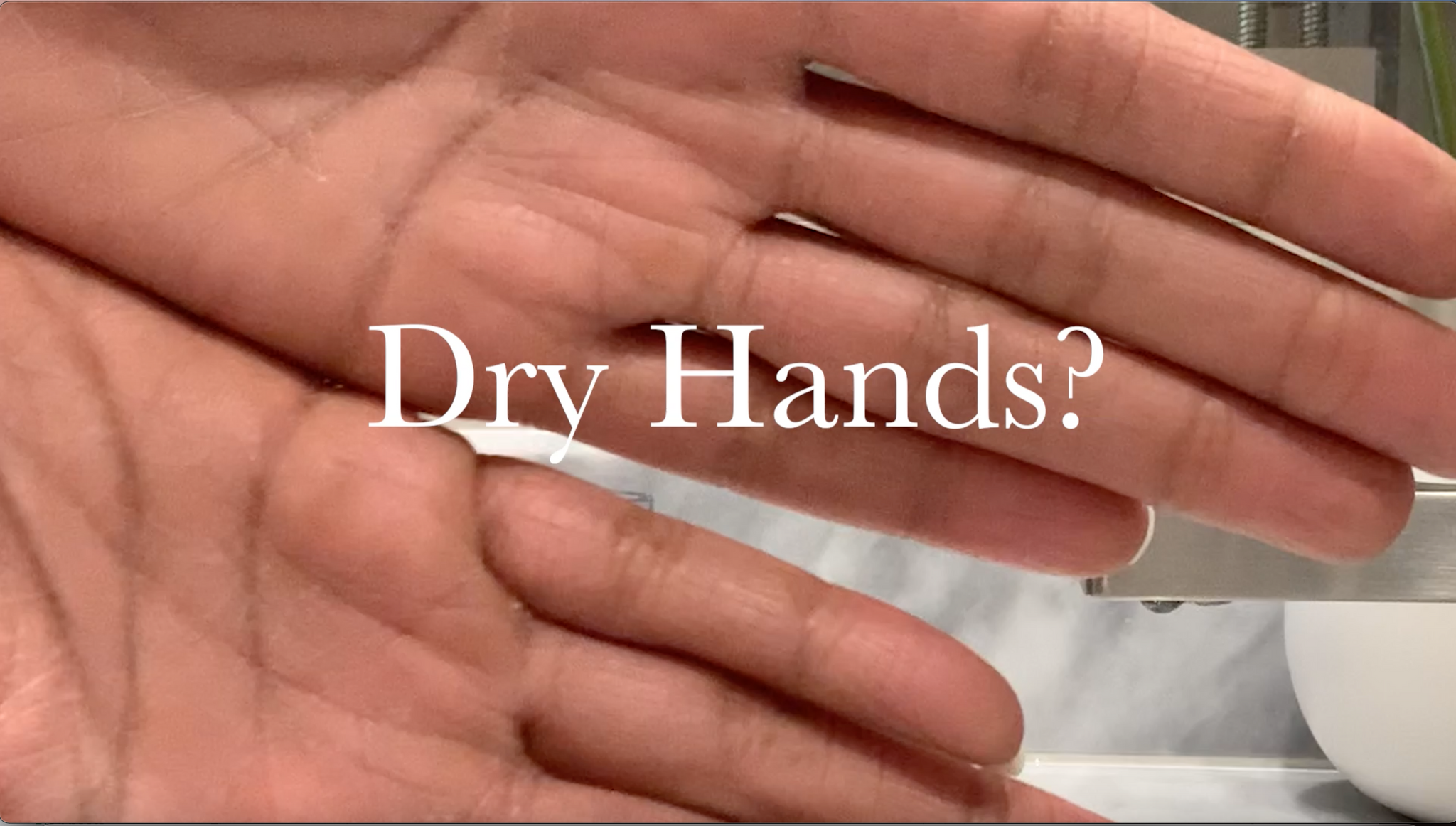 Pro Tip: Dry Hands Solution