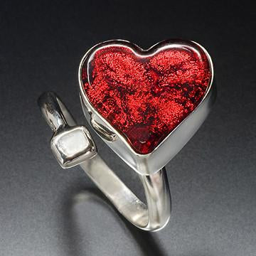 Satori Red Heart Ring