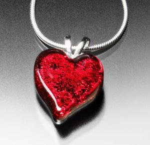 Small Red Heart Necklace