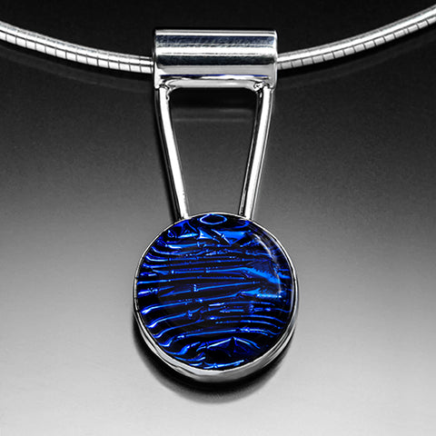 Deep Cobalt Blue with Sterling Silver Chain