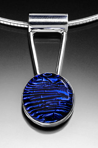 Satori Deep Cobalt Glass Drop with Sterling Silver Chain