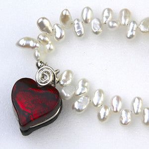Heart on Pearls