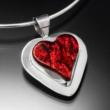 Satori Medium Heart Set In Sterling Silver