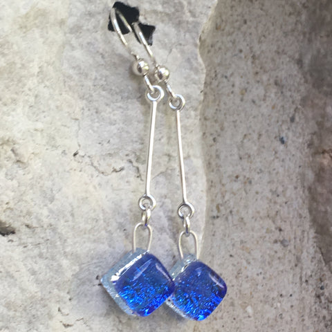Glass Long Drop Earrings
