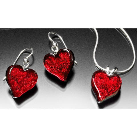 Satori Small Heart & Earrings Set