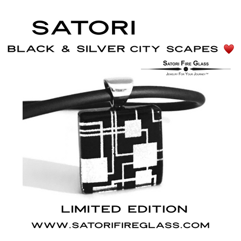 Satori Black & Silver City Scapes