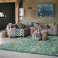 Brink and Campman Rocks Shaggy Designer Wool Rugs