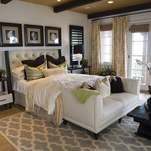 Main Bedroom Rug Placement Ideas