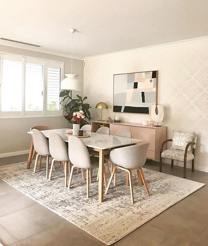 How To Choose The Best Size Rug For Your Dining Room Rugs Of Beauty