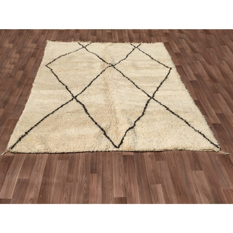 Moroccan Beni Ourain Handmade Wool Rug 277200 - Rugs Of Beauty - 1