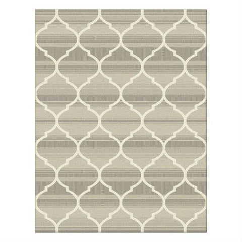 Caldwell Lattice Cream Trellis Patterned Modern Rug - 1