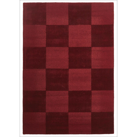 Wool Hand Loomed Rug - Box Red - Rugs Of Beauty