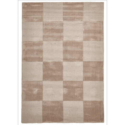 Wool Hand Loomed Rug - Box Taupe - Rugs Of Beauty