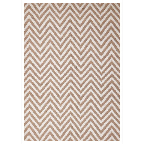 Modern Flatweave Chevron Design Beige Rug - Rugs Of Beauty