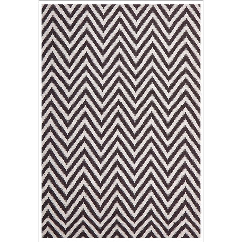 Modern Flatweave Chevron Design Chocolate Rug - Rugs Of Beauty