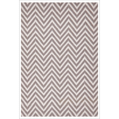 Modern Flatweave Chevron Design Grey Rug - Rugs Of Beauty