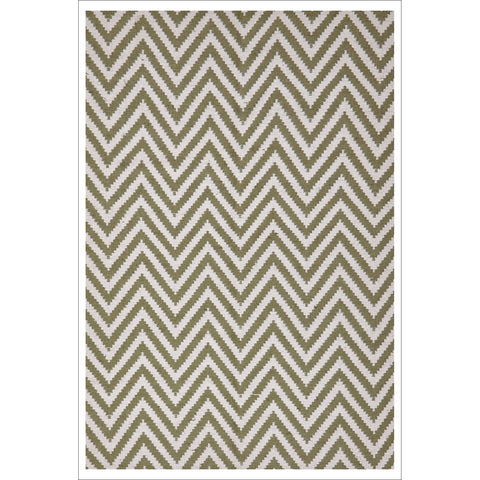 Modern Flatweave Chevron Design Green Rug - Rugs Of Beauty