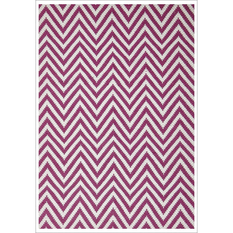 Modern Flatweave Chevron Design Pink Rug - Rugs Of Beauty