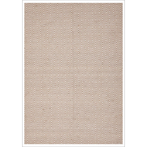 Modern Flatweave Diamond Design Beige Rug - Rugs Of Beauty