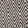 Modern Flatweave Diamond Design Black Rug - Rugs Of Beauty