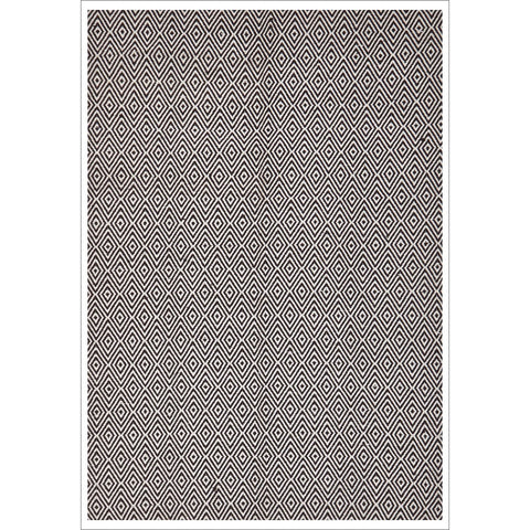 Modern Flatweave Diamond Design Chocolate Rug - Rugs Of Beauty