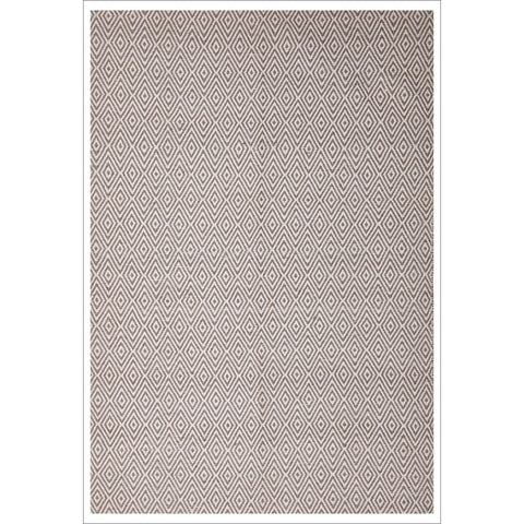 Modern Flatweave Diamond Design Grey Rug - Rugs Of Beauty