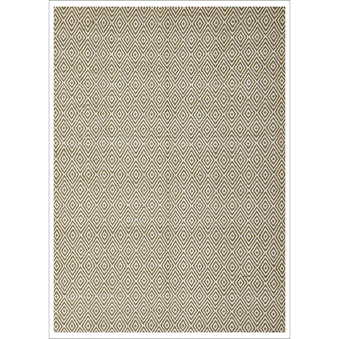 Modern Flatweave Diamond Design Green Rug - Rugs Of Beauty