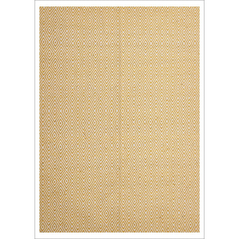 Modern Flatweave Diamond Design Yellow Rug - Rugs Of Beauty