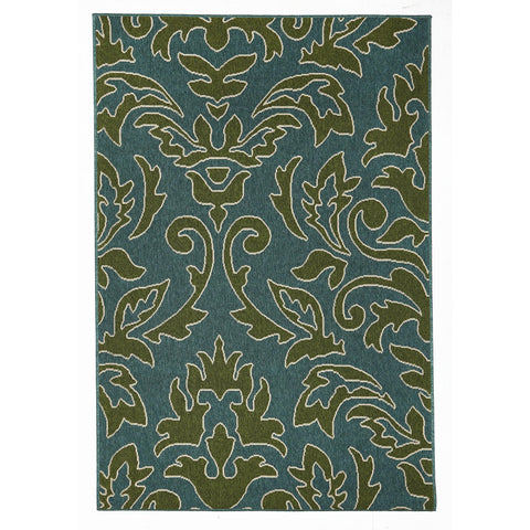 Alfresco 6504 Blue & Green Designer Outdoor RugяЛПяЛПяЛПяЛПяЛПяЛПяЛПяЛП - Rugs Of Beauty - 1