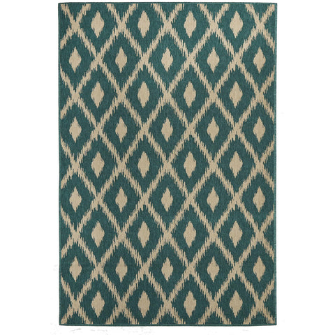 Alfresco 6505 Turquoise Designer Outdoor RugяЛПяЛПяЛПяЛПяЛПяЛПяЛПяЛП - Rugs Of Beauty - 1