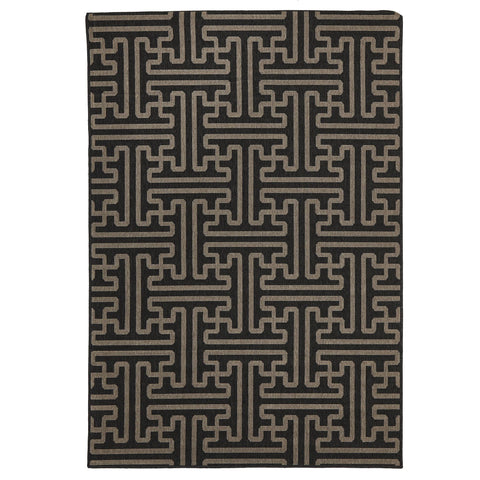 Alfresco 6506 Charcoal Designer Outdoor RugяЛПяЛПяЛПяЛПяЛПяЛПяЛПяЛП - Rugs Of Beauty - 1