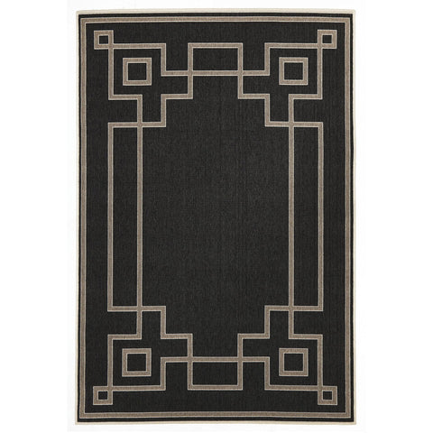 Alfresco 6507 Charcoal Designer Outdoor RugяЛПяЛПяЛПяЛПяЛПяЛПяЛПяЛП - Rugs Of Beauty - 1