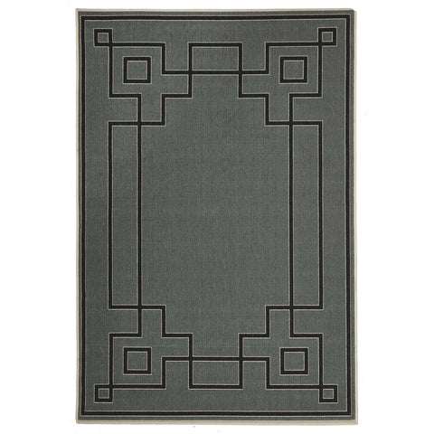 Alfresco 6507 Teal Designer Outdoor Rug - Rugs Of Beauty - 1