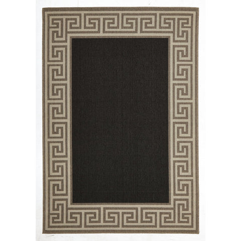 Alfresco 6508 Charcoal Designer Outdoor Rug - Rugs Of Beauty - 1
