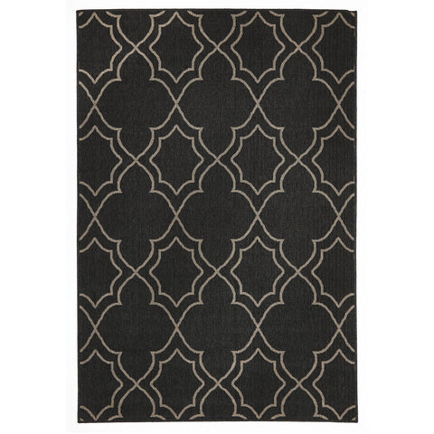 Alfresco 6510 Charcoal Designer Outdoor RugяЛПяЛПяЛПяЛПяЛПяЛПяЛПяЛП - Rugs Of Beauty - 1