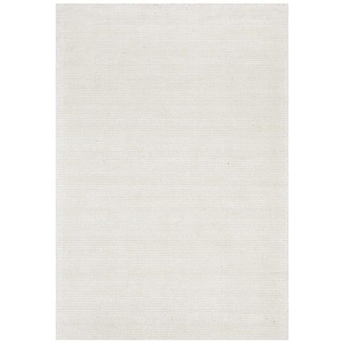Londrina Ivory White Modern Cut Loop Pile Rayon Cotton Rug - Rugs Of Beauty - 1