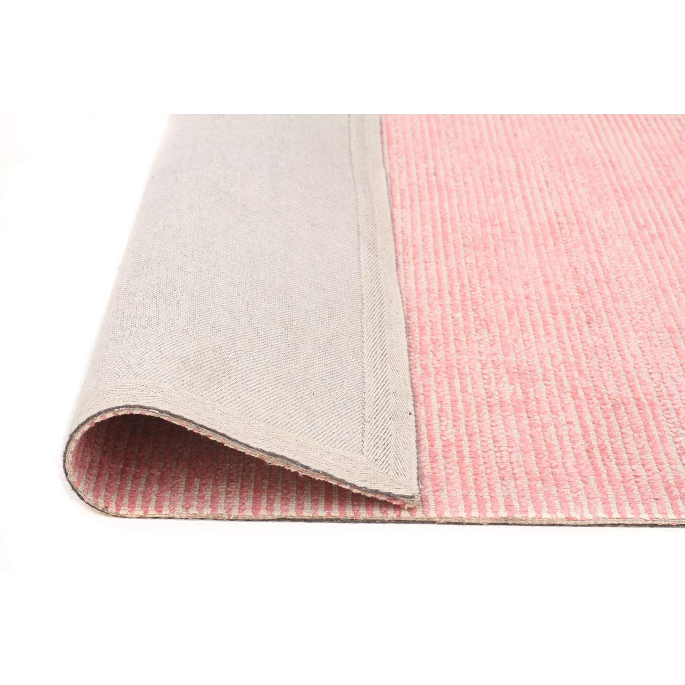 Londrina Rose Pink Modern Cut Loop Pile Rayon Cotton Rug