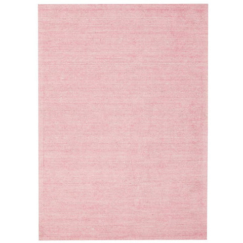 Londrina Rose Pink Modern Cut Loop Pile Rayon Cotton Rug - Rugs Of Beauty - 1