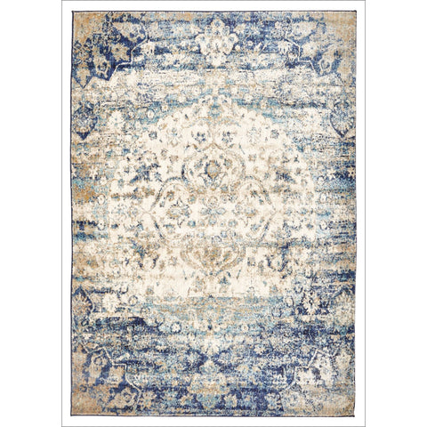 Beliz Blue Multi Colour Transitional Designer Rug - Rugs Of Beauty