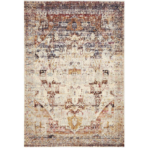 Beliz Multi Colour Wash Transitional Patterned Designer Rug - Rugs Of Beauty - 1