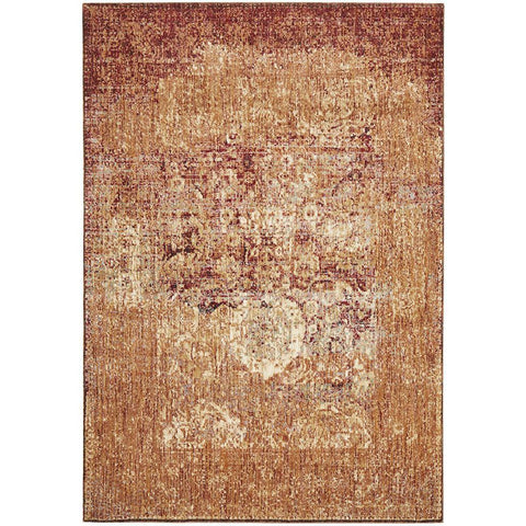 Beliz Beige Brown Blue Transitional Patterned Designer Rug - Rugs Of Beauty - 1