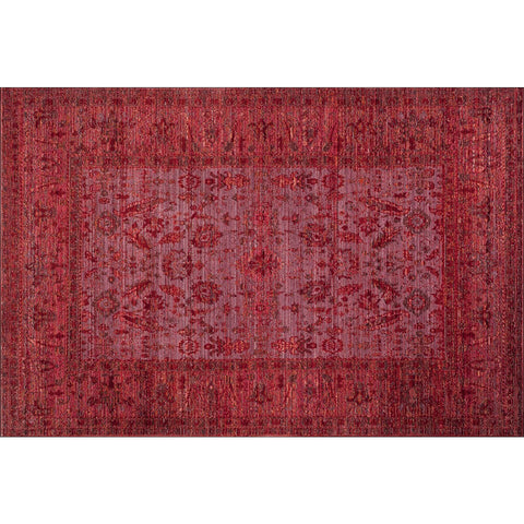 Art Silk Dense Traditional Red Rug - Rugs Of Beauty - 1