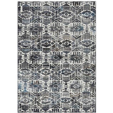 Cadiz 471 Black and Turquoise Textured Modern Rug - Rugs Of Beauty - 1