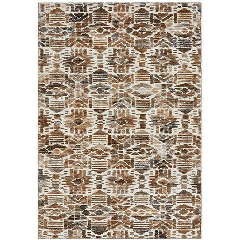 Cadiz 471 Brown Gold Textured Modern Rug - Rugs Of Beauty - 1